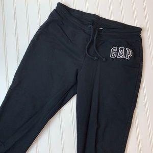 Gap factory black sweat pants drawstring waist M